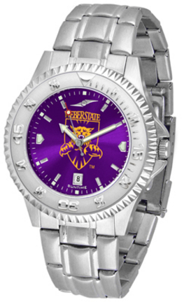 Weber State Wildcats Competitor AnoChrome Men's Watch with Steel Band