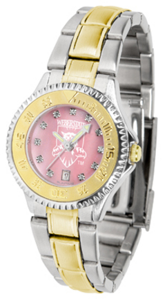 Weber State Wildcats Competitor Ladies Watch with Mother of Pearl Dial and Two-Tone Band