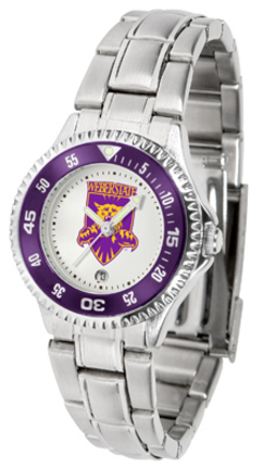 Weber State Wildcats Competitor Ladies Watch with Steel Band