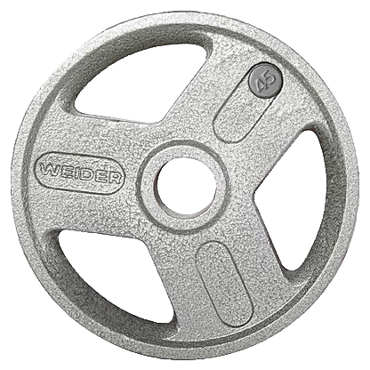 Weider HOPH45 45 lbs Olympic Handle Hammertone Plate Gray