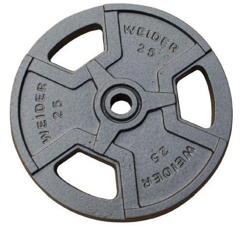 Weider HP25 25 lbs Standard Hammertone Plate Black