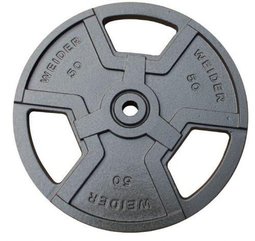 Weider HP50 50 lbs Standard Hammertone Weight Plate Black