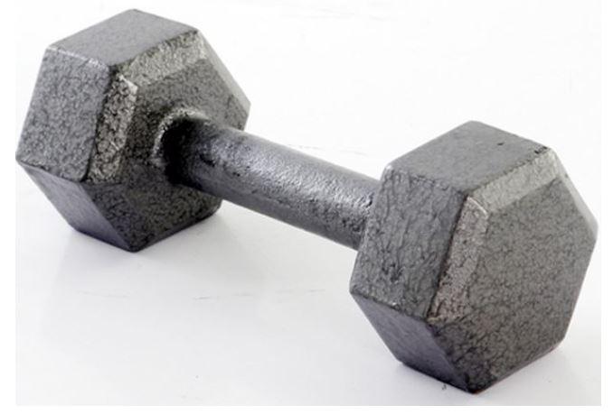 Weider NHD45-S 45 lbs Hex Dumbbell Gray