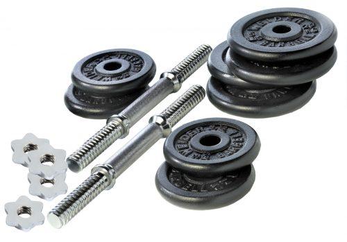 Weider WC4011 40 lbs Cast Iron Weight Set Chrome