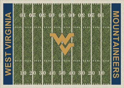 "West Virginia Mountaineers 3' 10"" x 5' 4"" Home Field Area Rug"