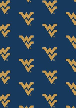 "West Virginia Mountaineers 3' 10"" x 5' 4"" Team Repeat Area Rug"