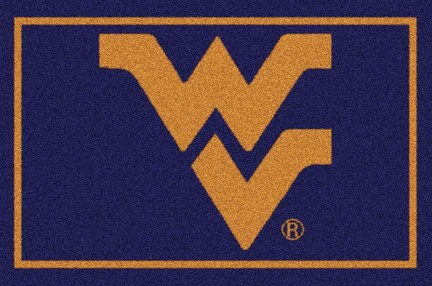 "West Virginia Mountaineers 3'10""x 5'4"" Team Spirit Area Rug"