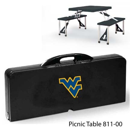 West Virginia Mountaineers Portable Folding Table and Seats
