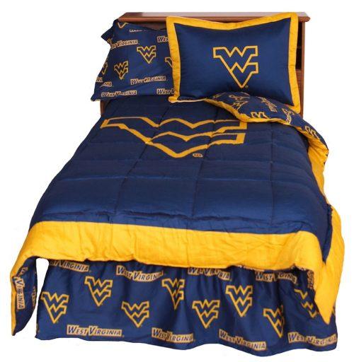 West Virginia Mountaineers Reversible Comforter Set (Queen)