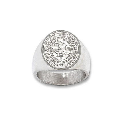 "West Virginia Mountaineers ""Seal"" Men's Ring Size 10 1/2 - Sterling Silver Jewelry"