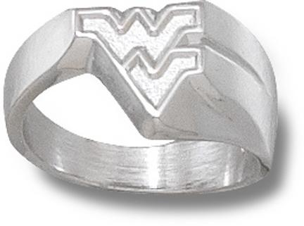 """West Virginia Mountaineers """"WV"""" Ladies' Ring Size 6 1/2 - Sterling Silver Jewelry"""
