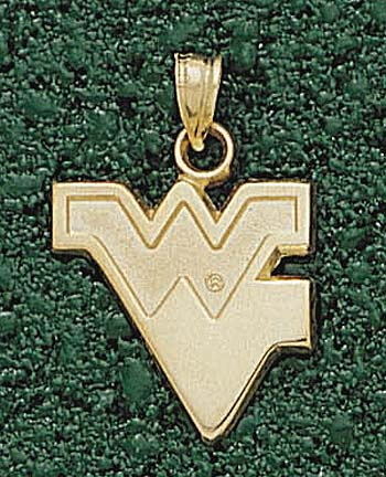 "West Virginia Mountaineers ""WV"" Pendant - 10KT Gold Jewelry"
