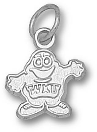 "Western Kentucky Hilltoppers 3/8"" ""Big Red"" Charm - 14KT White Gold Jewelry"