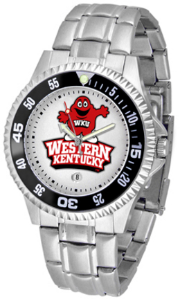 Western Kentucky Hilltoppers Competitor Men's Watch with Steel Band