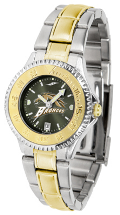 Western Michigan Broncos Competitor AnoChrome Ladies Watch with Two-Tone Band