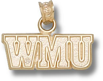 "Western Michigan Broncos ""WMU"" Pendant - 10KT Gold Jewelry"