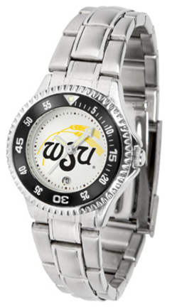 Wichita State Shockers Competitor Ladies Watch with Steel Band