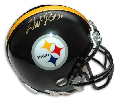 Willie Parker Autographed Pittsburgh Steelers Riddell Mini Helmet
