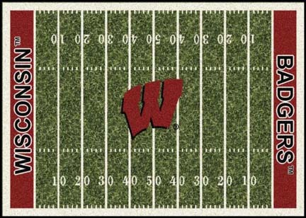 "Wisconsin Badgers 3' 10"" x 5' 4"" Home Field Area Rug"