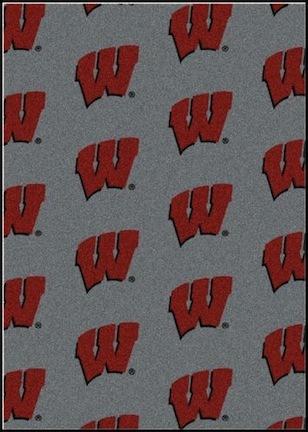 "Wisconsin Badgers 3' 10"" x 5' 4"" Team Repeat Area Rug"