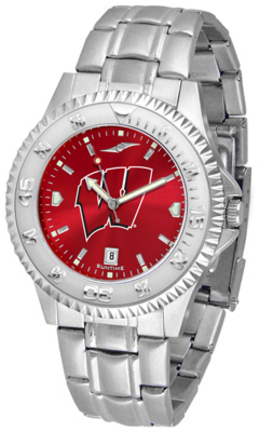 Wisconsin Badgers Competitor AnoChrome Men's Watch with Steel Band