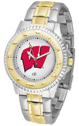 Wisconsin Badgers Competitor Two Tone Watch