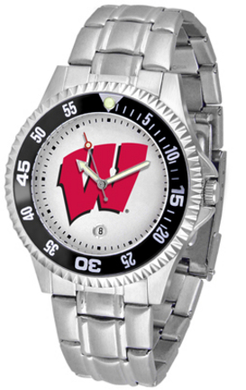 Wisconsin Badgers Competitor Watch with a Metal Band