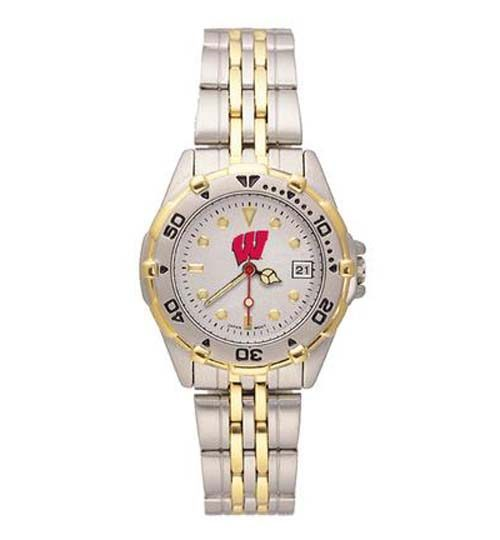 Wisconsin Badgers NCAA Women's All Star Watch with Stainless Steel Bracelet
