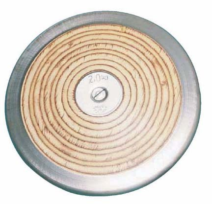 Women's Official 1 kilo Practice Wood Discus (Set of 4)