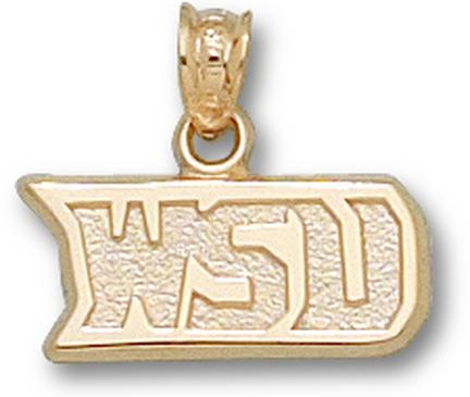 "Wright State Raiders ""WSU"" Pendant - 10KT Gold Jewelry"
