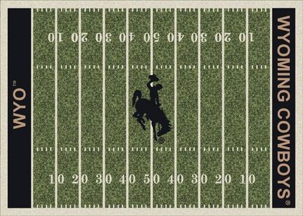 "Wyoming Cowboys 3' 10"" x 5' 4"" Home Field Area Rug"