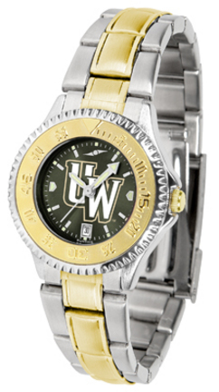 Wyoming Cowboys Competitor AnoChrome Ladies Watch with Two-Tone Band