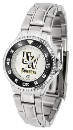 Wyoming Cowboys Competitor Ladies Watch with Steel Band