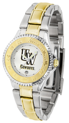 Wyoming Cowboys Competitor Ladies Watch with Two-Tone Band