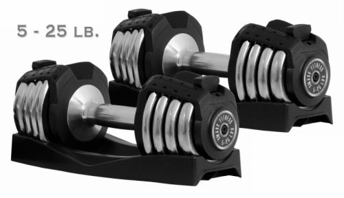 XMark Fitness XM-3305 Pair of 25 lb Adjustable Dumbbells