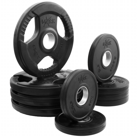 XMark Fitness XM-3377-BAL-65 XMark Rubber Coated Olympic Plate Weight Packages - Available Packages - 45 lbs. to 65 lbs. - XM-3377-BAL