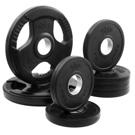 XMark Rubber Coated Olympic Plate Weight Packages - Available Packages - 45 lbs. to 65 lbs. - XM-3377-BAL