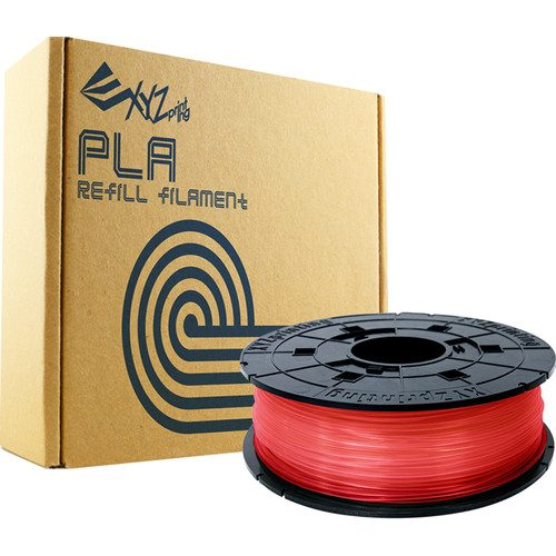 XYZprinting RFPLBXUS02B 1.75 mm PLA Refill Filament Clear Red