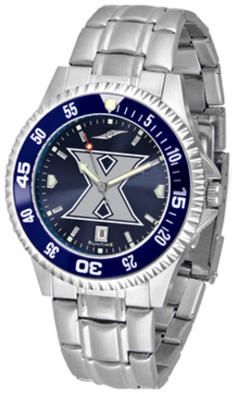 Xavier Musketeers Competitor AnoChrome Men's Watch with Steel Band and Colored Bezel