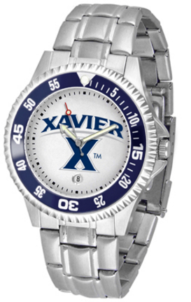 Xavier Musketeers Competitor Watch with a Metal Band