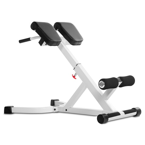 Xmark Fitness XM-4428-White 45 Degree AB Back Hyperextension Roman Chair White