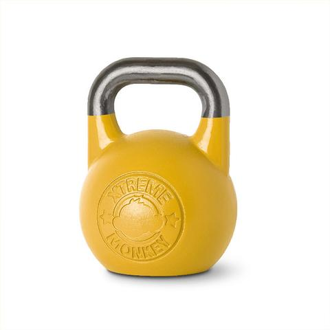 Xtreme Monkey XM-3192 16 kg Steel Competition Kettle Bells - Yellow & Silver