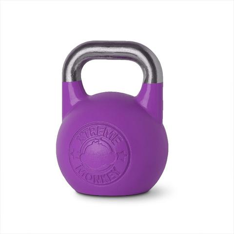 Xtreme Monkey XM-3917 20 kg Steel Competition Kettle Bells - Purple & Silver