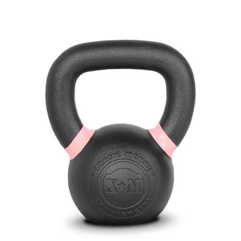 Xtreme Monkey XM-4602 8 kg Commercial Cast Iron Kettle Bells - Black & Pink