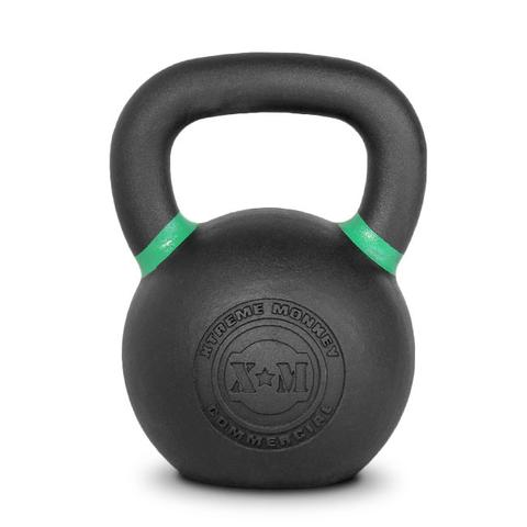 Xtreme Monkey XM-4607 24 kg Commercial Cast Iron Kettle Bells - Black & Green