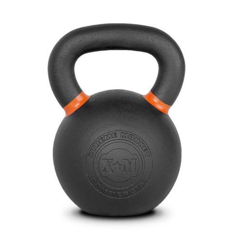 Xtreme Monkey XM-4608 28 kg Commercial Cast Iron Kettle Bells - Black & Orange