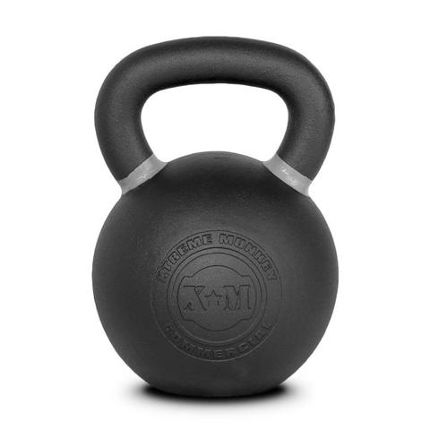 Xtreme Monkey XM-4610 36 kg Commercial Cast Iron Kettle Bells - Black & Grey