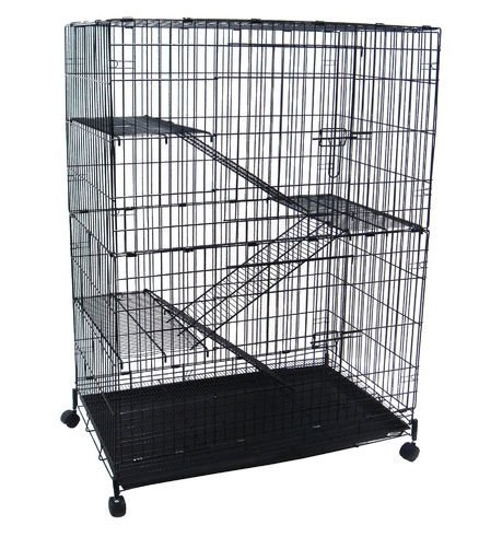YML CT52 4 Levels Small Animal Cage in Black