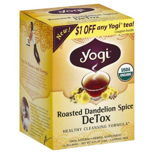 YOGI TEAS TEA DETOX RSTD DANDLN SPC-16 BG -Pack of 6