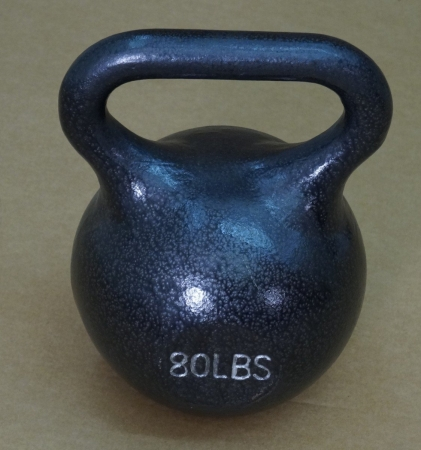 York Barbell 15180 Single Kettlebell Black - 80 lbs